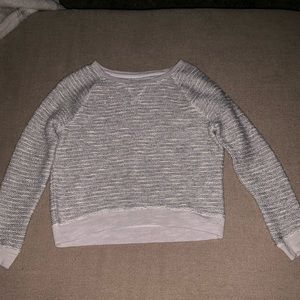 Silver A&E sweater
